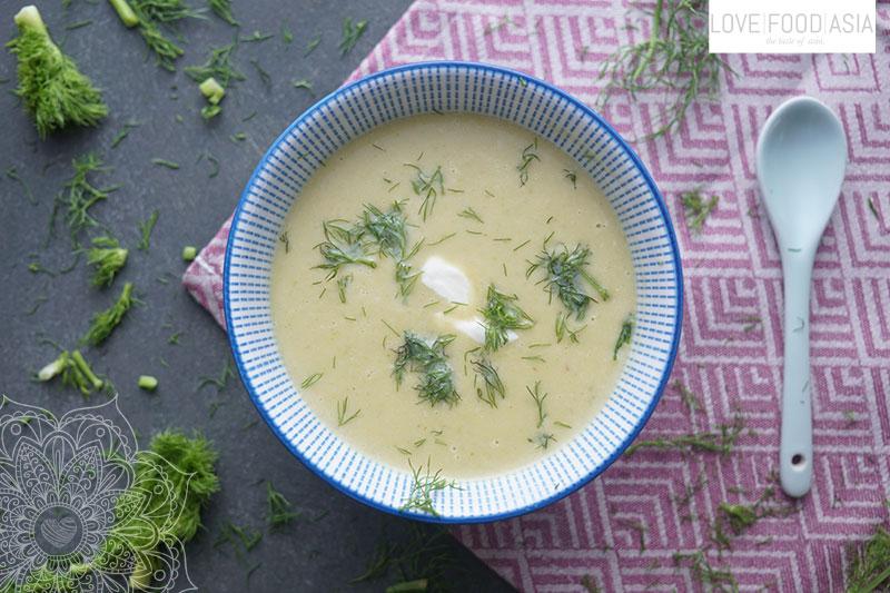 Asiatische Fenchel Suesskartoffelsuppe