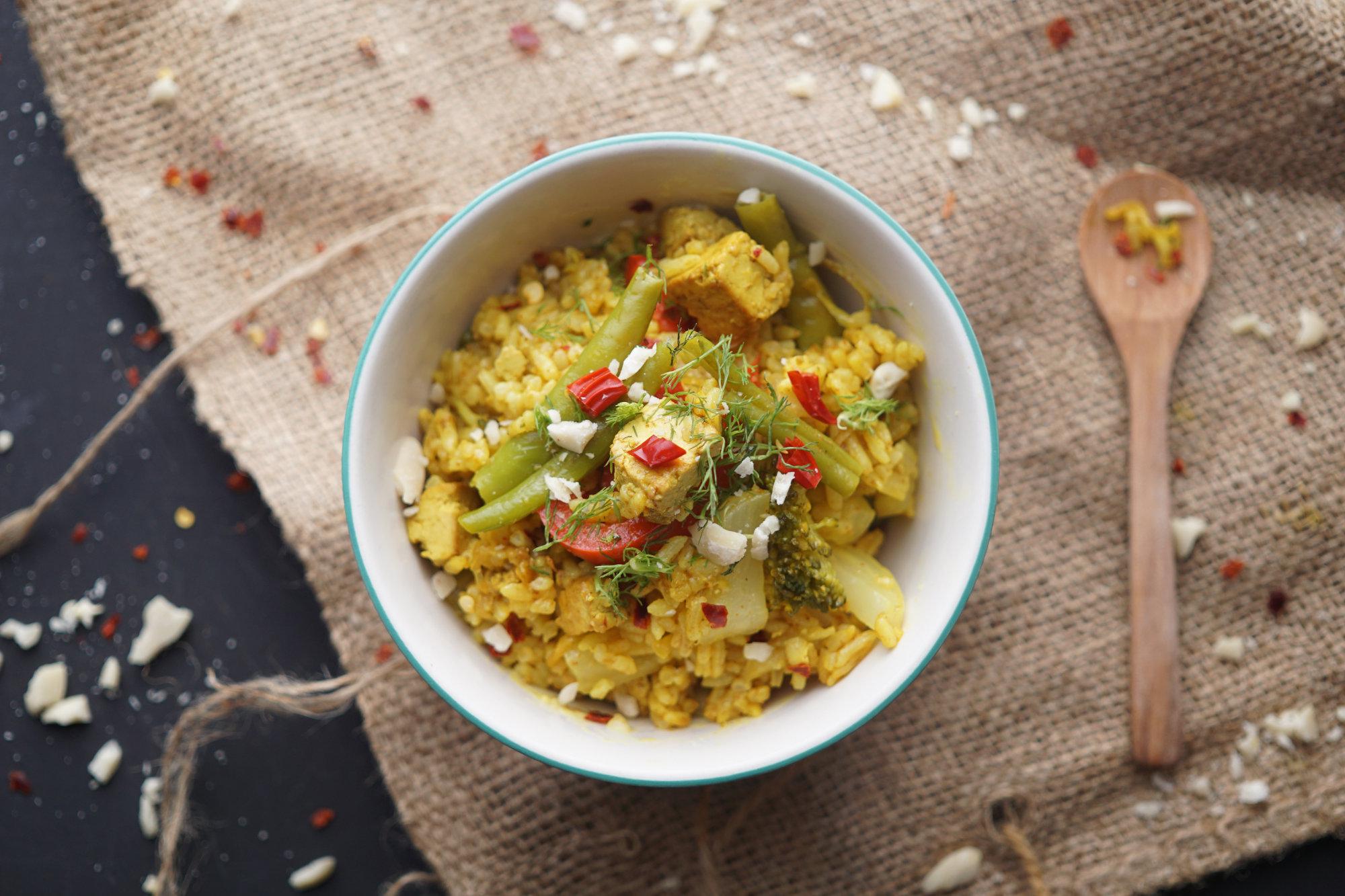 Schnelles Indisches Biryani mit Gemüse