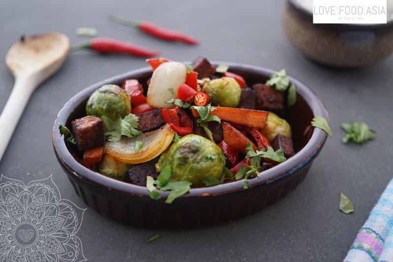 Thailändisches Wokgemüse