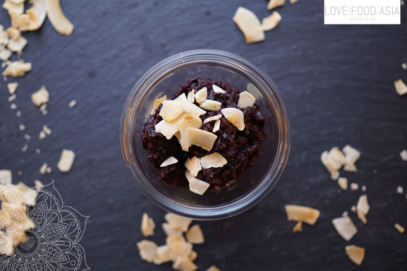 Coconut Black Rice Pudding from Thailand
