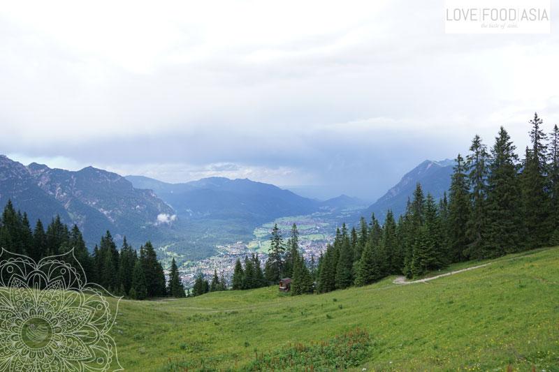 First view down on Garmisch Partenkirchen