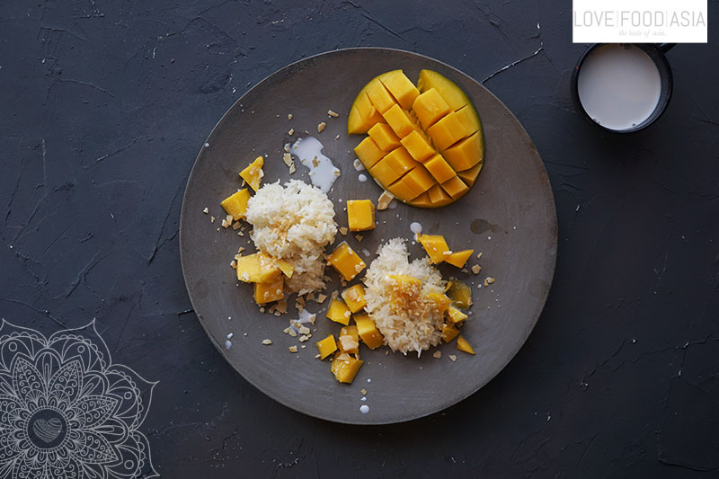Süßer Klebereis mit Mango